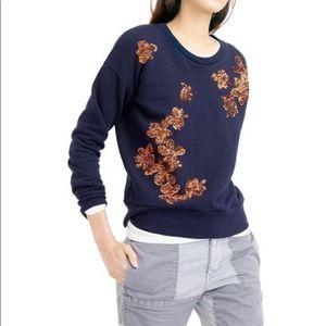 J. Crew sequined sweatshirt